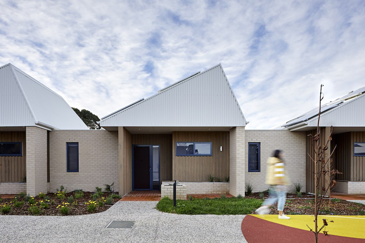 A row of affordable housing designed by Bent Architecture.