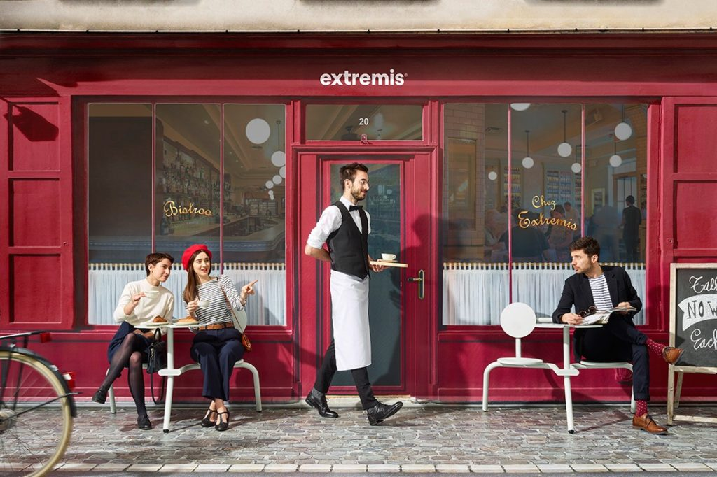 Bistroo by Extremis, featuring a new forward-facing, two-seater option.