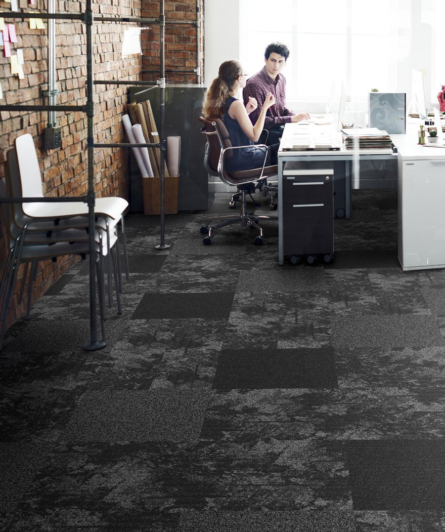 Breaking Ground - Flatlands is a carpet design inspired by the natural world