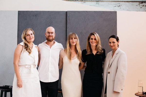 (L-R) Gemma Cahill (Arnsdorf), Ross Gardam, Holly Ryan, Vanessa Katsanevakis (Sussex Taps) and Jes Blanch (moderator from Russh magazine).