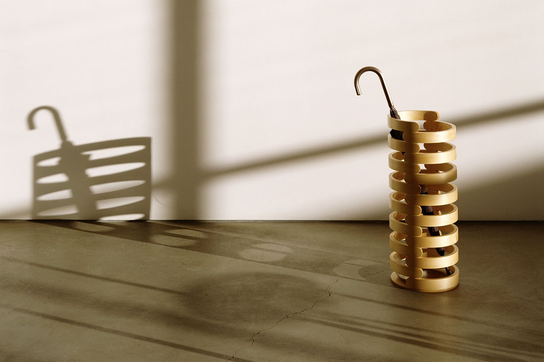 Vertebra umbrella stand, designed by Caroline Casey.