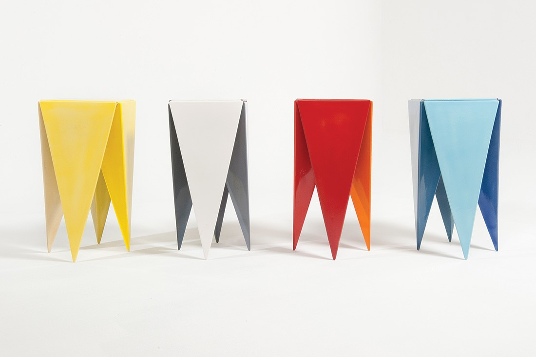 Chatterbox ceramic side tables by Adam Goodrum.