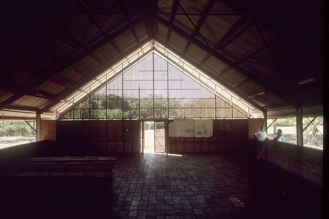 One of Peter Stutchbury's first buildings – a church in Port Moresby