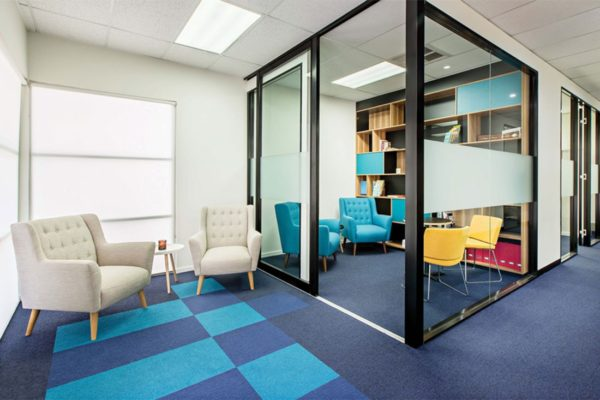 The Colour Tone EcoSoft carpet can add a splash of colour to any space - Project Credit – Contour Commercial Interiors