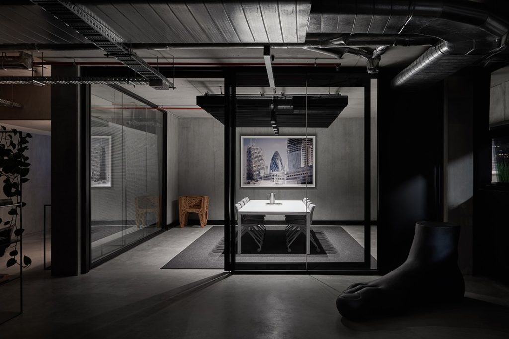 Conrad Architects office has a moody palette