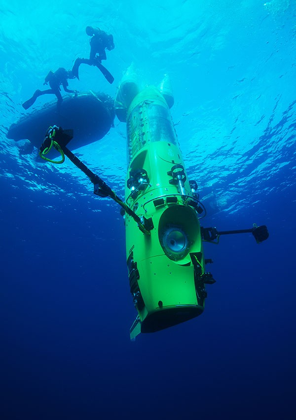 The DeepSea Challenger Research Submersible was co-designed by film director and oceans explorer James Cameron and awarded the Good Design Award of the Year in 2012.