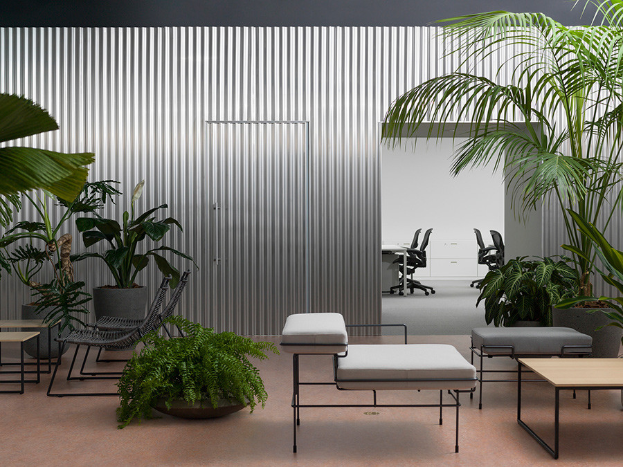 Dezeen Awards 2018 winner: Workspace Interior – Office with a Patio by Shogo Onodera and Tsukasa Okada. Photo by Gottingham.