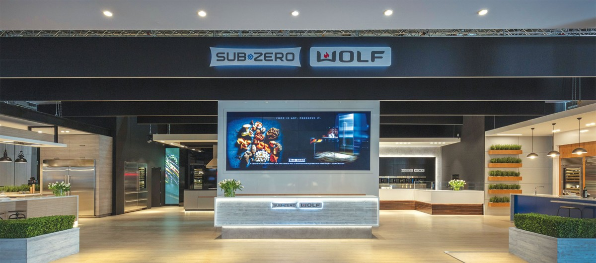 The Sub-Zero and Wolf stand at the 2018 EuroCucina.