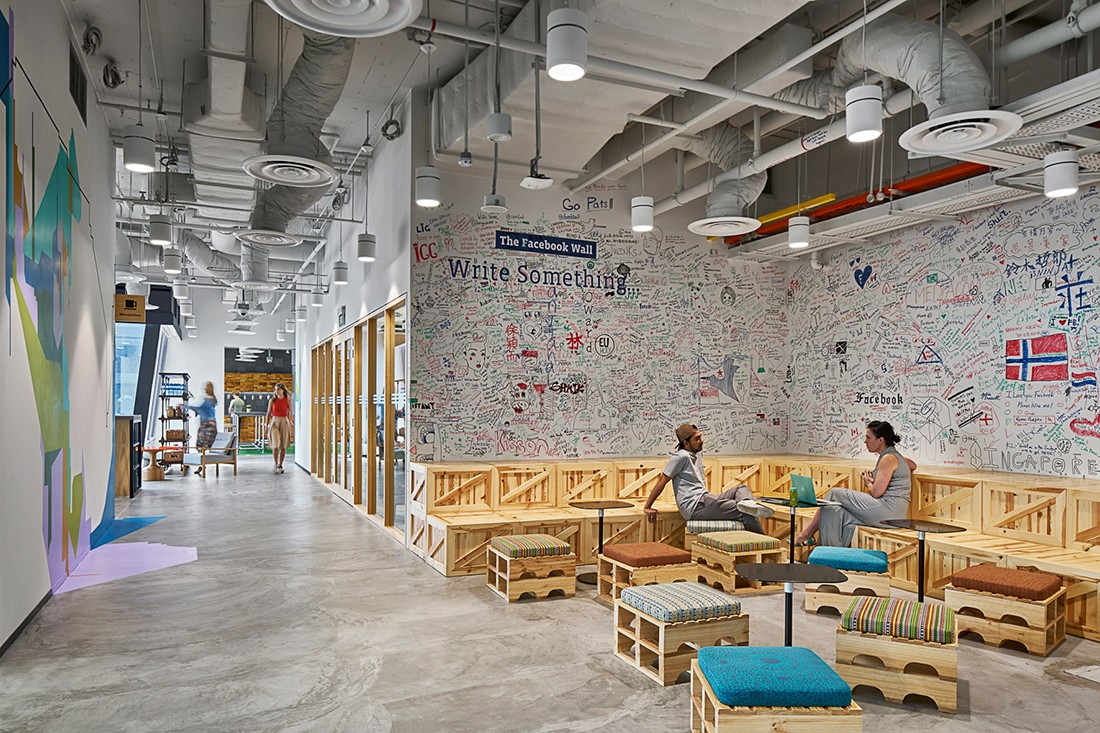 Facebook's Sydney office, designed by Siren Design.