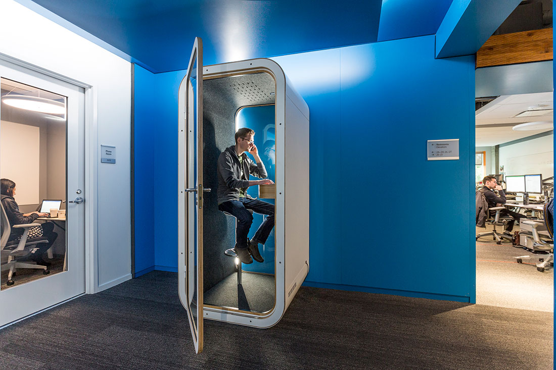 Phone Booths Displace Rooms At Microsoft Hq