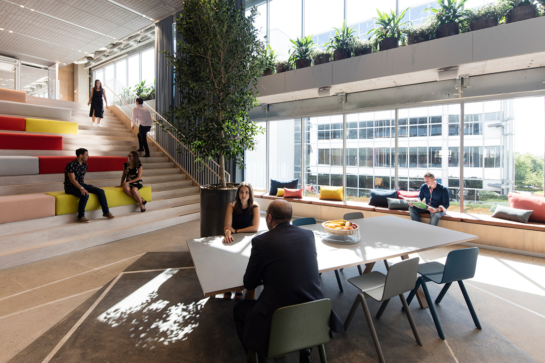 Wellness in the workplace with frasers property by bvn for Office design wellbeing