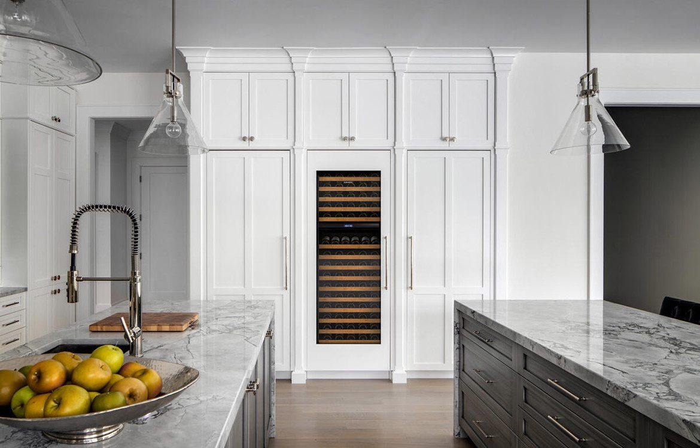 ICBIW30 White Kitchen Wine Storage