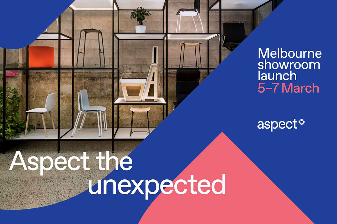 Come on down! Aspect Furniture's new Melbourne showroom opening