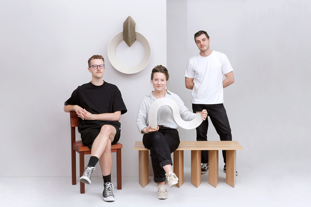 JamFactory outgoing Furniture Associates (left to right): Calum Hurley, Ivana Taylor, Jordan Leeflang