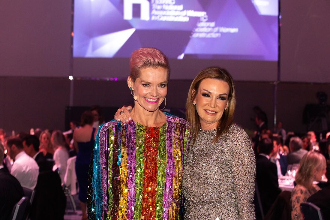(L-R) The night's MC Jessica Rowe with NAWIC NSW Chapter President Sarah Hogan.