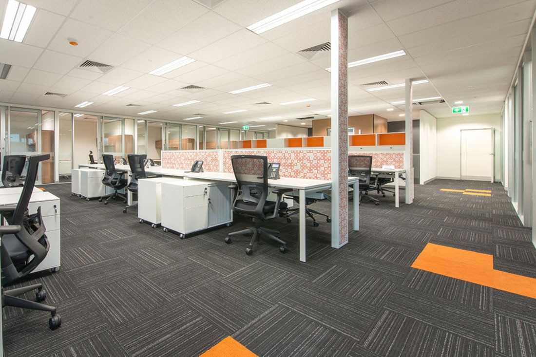 Impulse is a bold office carpet design