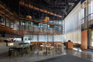 Mercedes Me cafe, designed by JCB Architects, will be the backdrop for the 'Break the Business Model' talk.