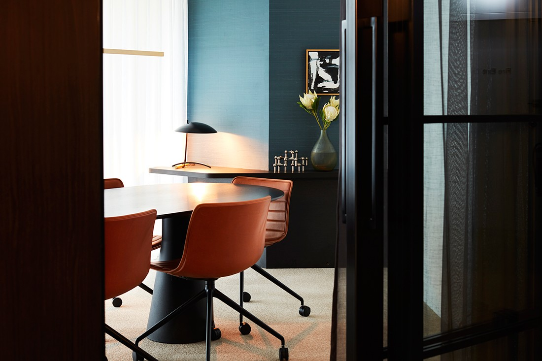 A luxury office that feels more like a high-end home