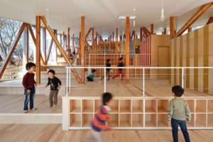 Hakui Nursery by Japanese architect Kentaro Yamazaki.