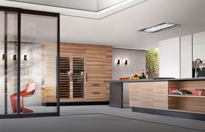 Kitchen Wine Storage Timber