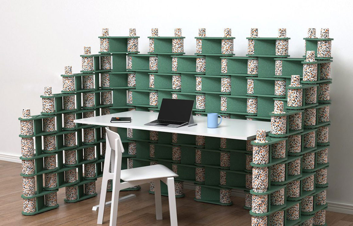 Luxxbox Brix Green Acoustic Privacy Wall
