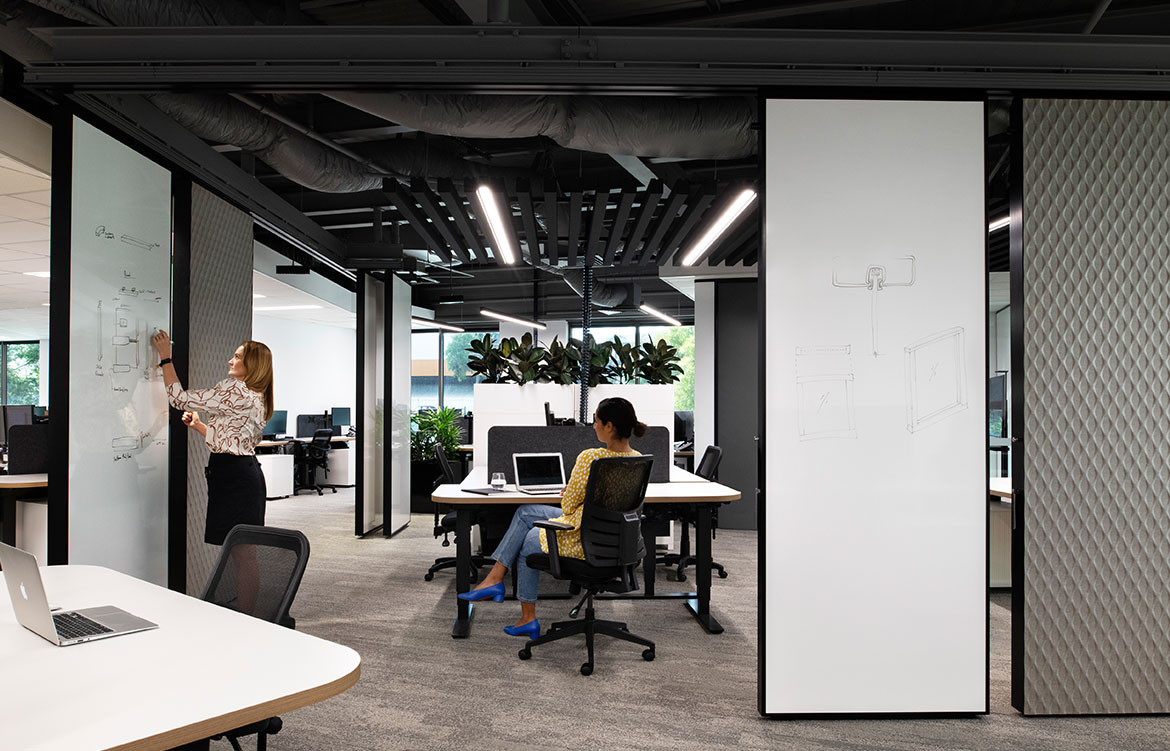 Adaptable space solutions at work in Lotus' office refit