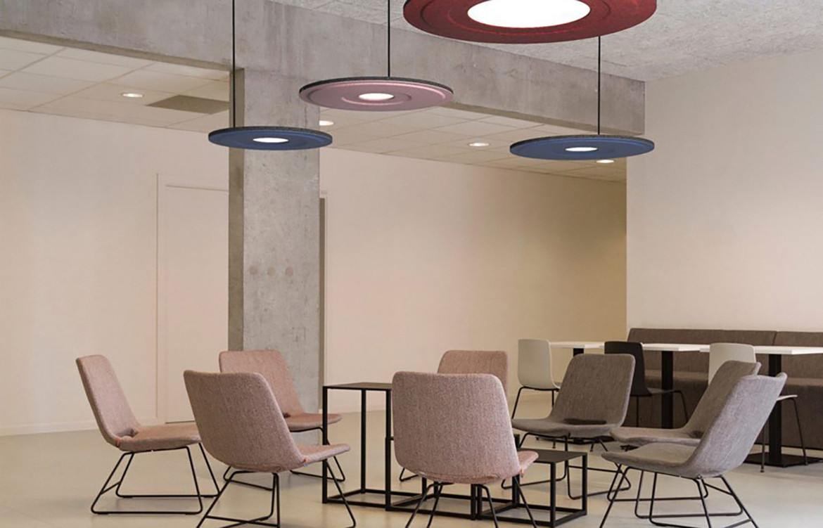 Luxxbox Waffle Pendant Downlit Commercial Meeting Room