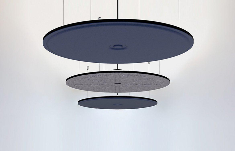 Luxxbox Waffle Pendant Blue and Grey
