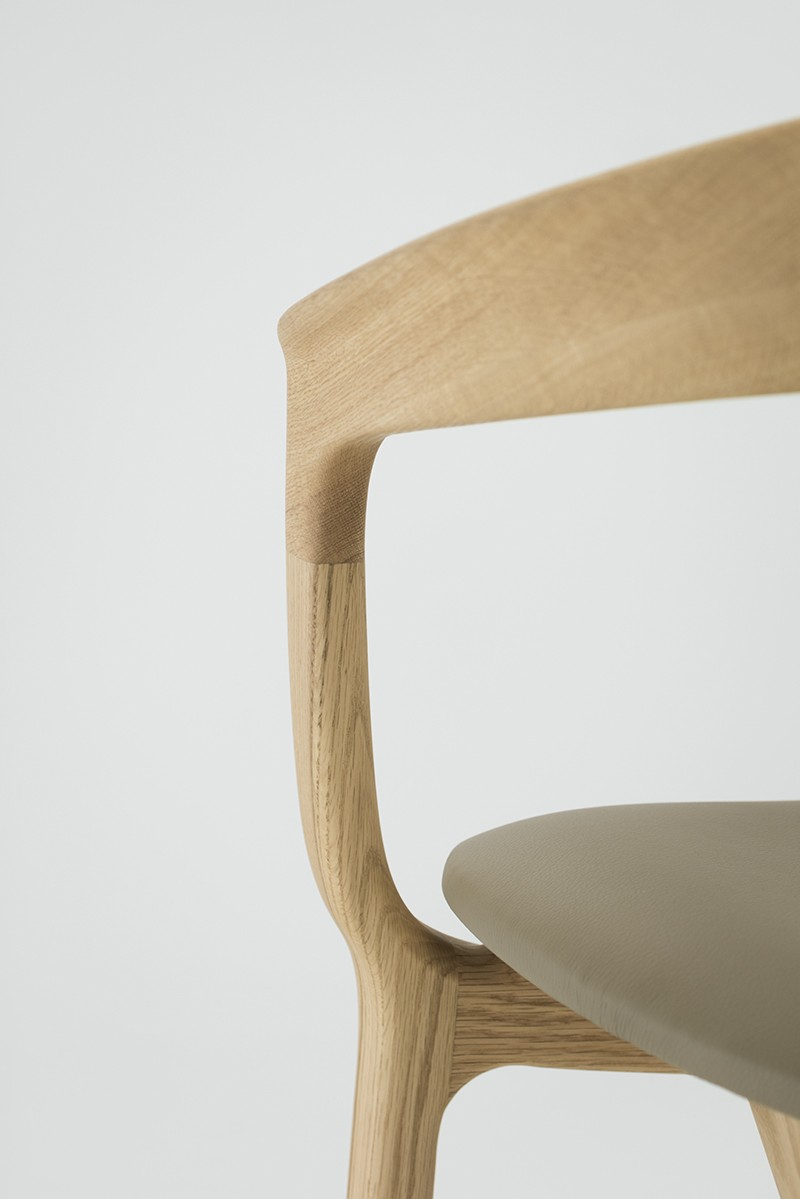 Most chair designed by Kuramoto for Hukla. Photo by Takumi Ota.