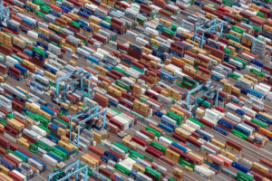 Alex MacLean, Shipping Containers, Portsmouth, VA 2011, type C photograph.