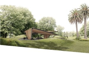 Proposed design for the 2018 MPavilion
