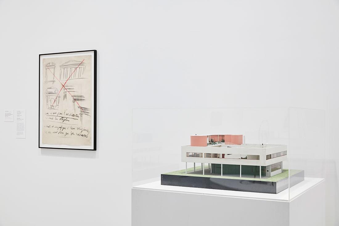A model of Le Corbusier's Villa Savoye.