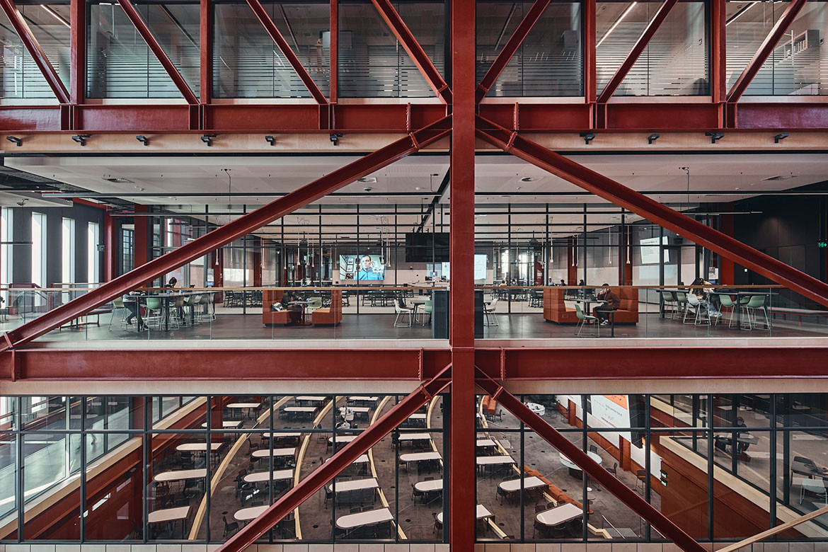 """Grimshaw's Woodside Building is a """"machine for learning"""""""
