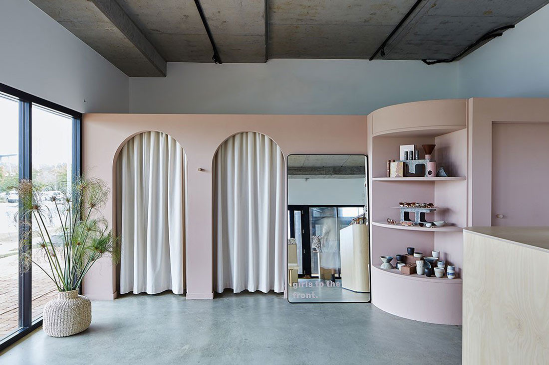 Arches + Millennial pink come together at Nikkou