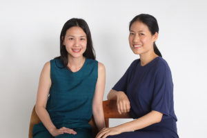 (L-R) Nita Yuvaboon and Prow Puttorngul, founders of NITAPROW.