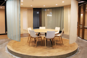 Nude by Nature Boardroom: Krost's Dart Table and Zorro Chair