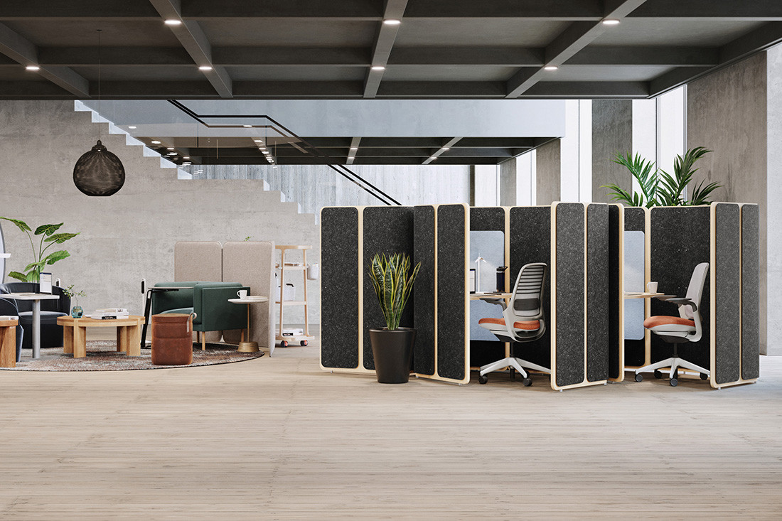 Finding middle ground between open and private workspaces