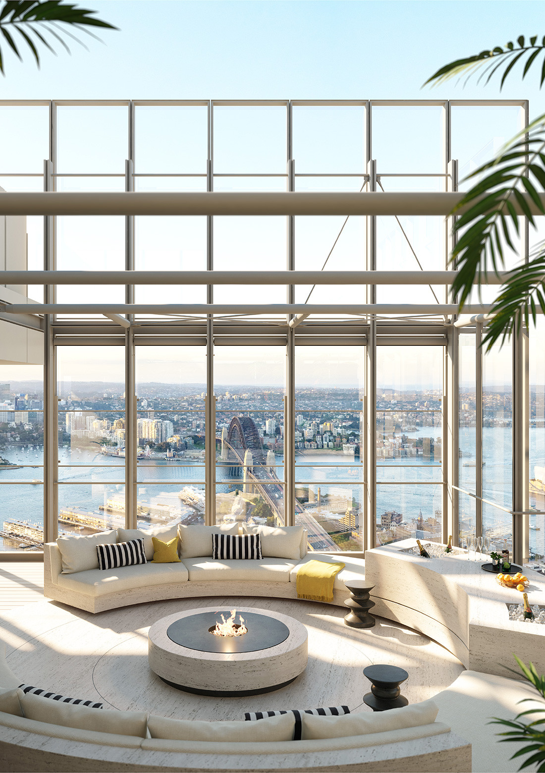 The penthouse 'Skyhomes' of Residences Two, One Sydney Harbour, will each boast panoramic views of Sydney. Artists impression only, design subject to change.