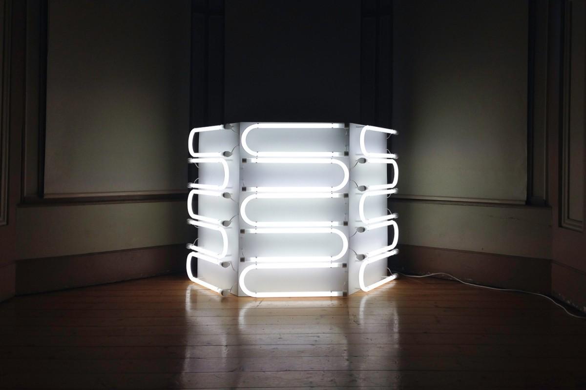 One Quarter U-Bend light sculpture, 2016, Meaghan Streader.
