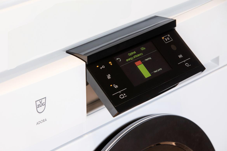 V-ZUG machine in optimal energy efficiency mode