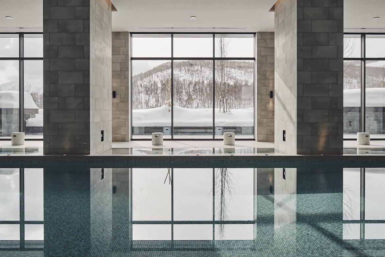 A pool in the park hyatt niseko