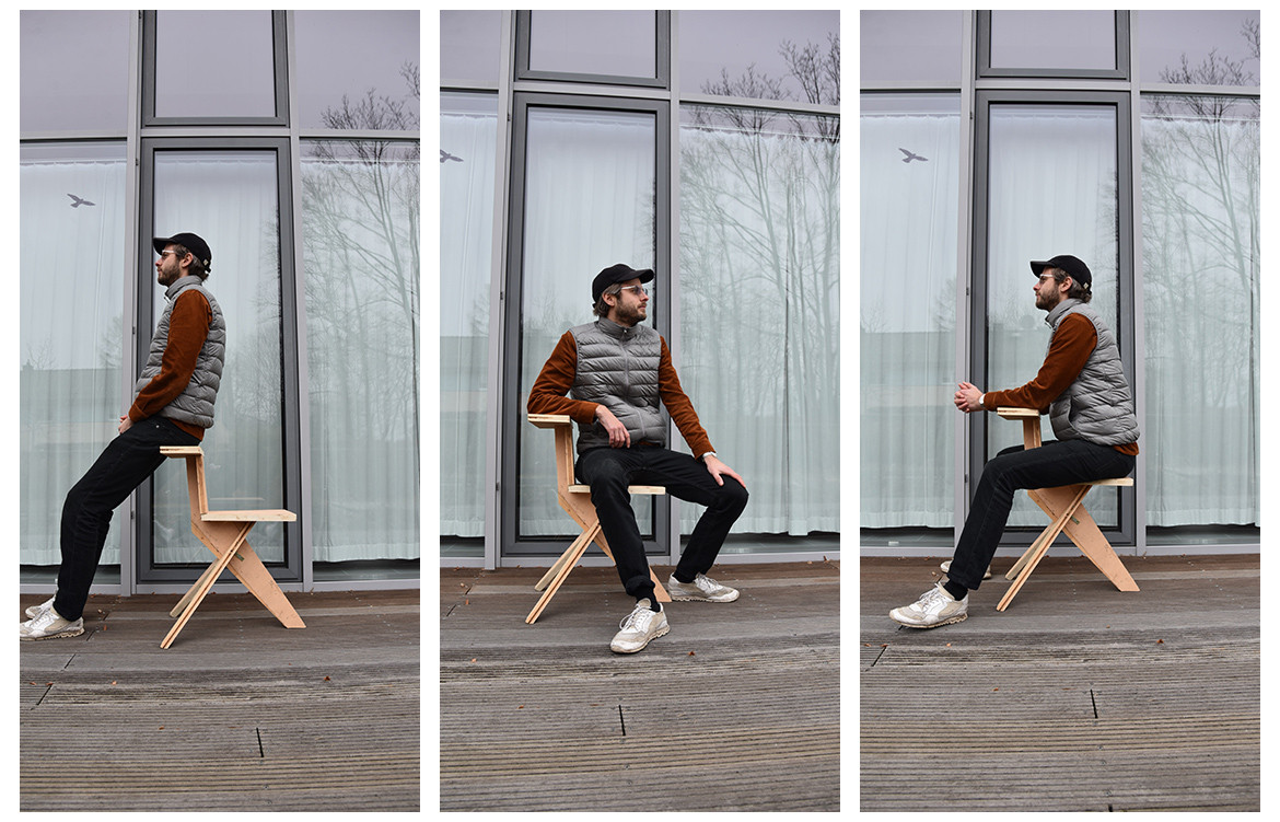 There is no front and back, no right or wrong to Pascal Hien's Migo 01, a multifunctional stool designed to represent change, uncertainty and adaptability.