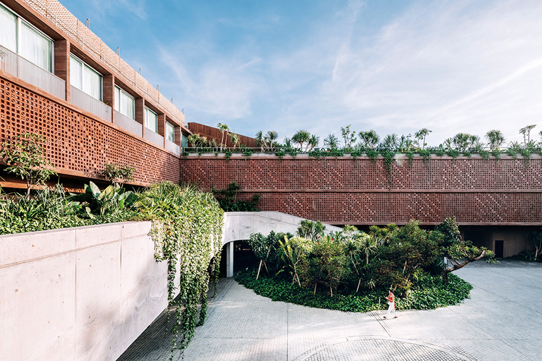 An open platform at the centre of Bali's Potato Head Studios (designed by OMA and Andramatin) is a flexible stage for a range of programs such as festival celebrations, cultural events, and day-to-day leisure activities. Photo by Kevin Mak for OMA.