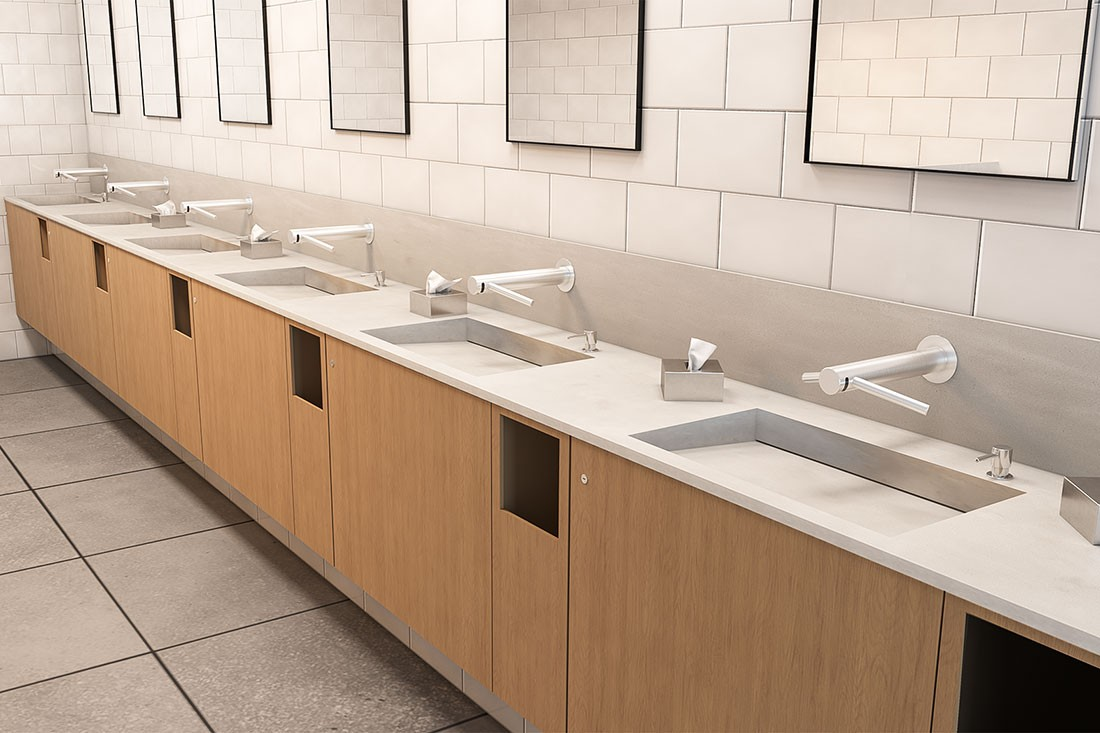 The best of both worlds: How the new Corian® Multi-basin Washplane combines two innovations