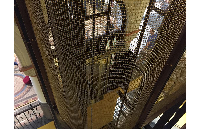 Brass woven mesh