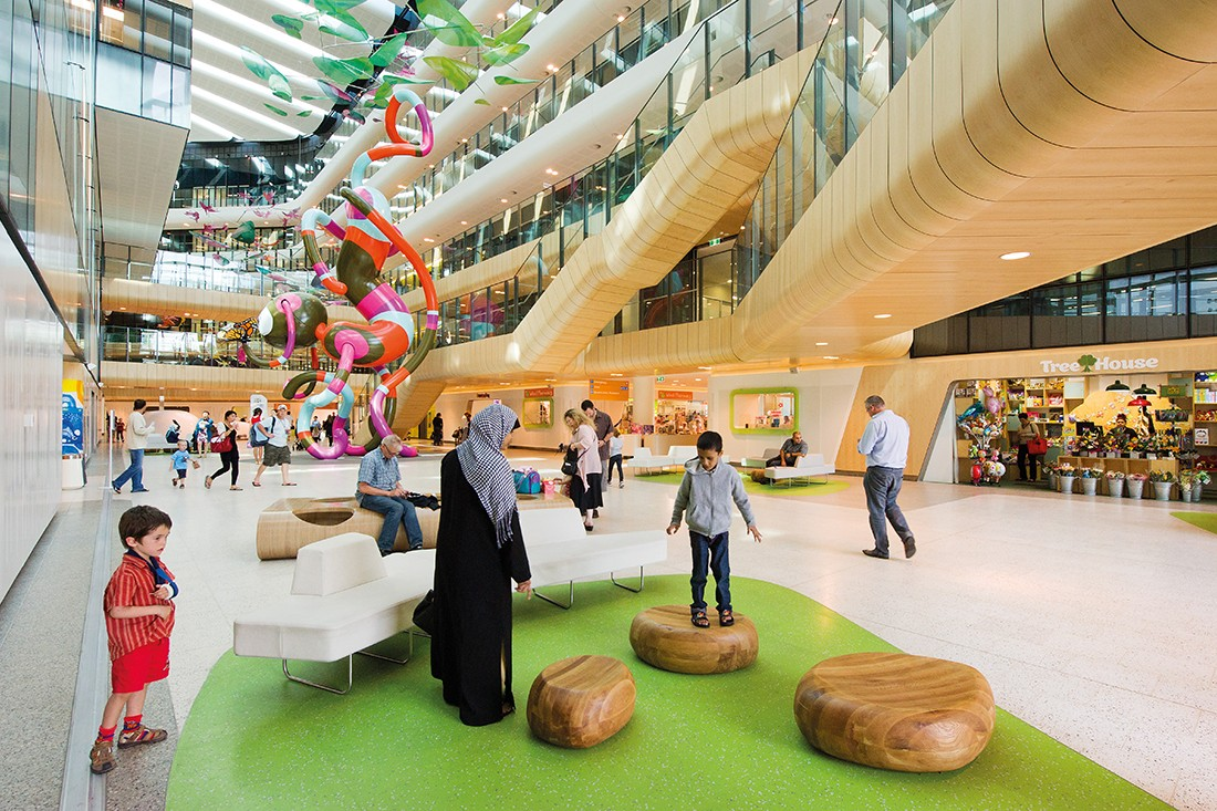 Royal Children's Hospital Melbourne by Billiard Leece Partnership and Bates Smart. Photo by John Gollings.