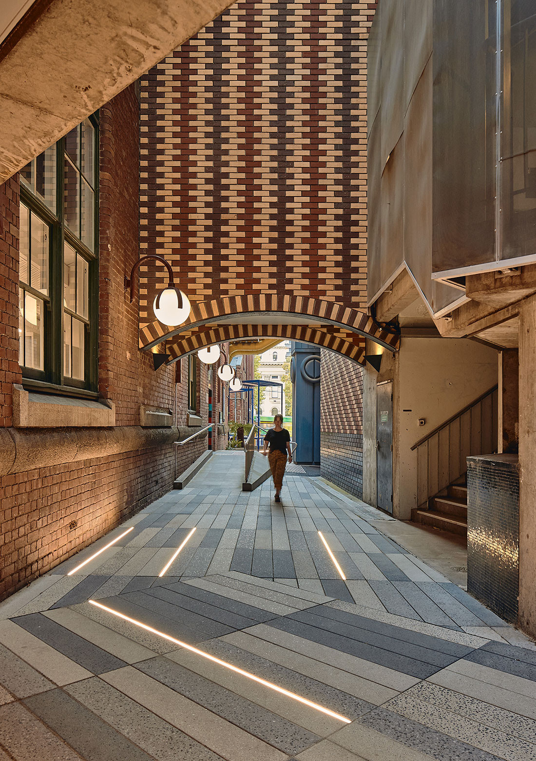 RMIT Rodda Lane Precinct by Sibling Architecture is on the shortlist for the Colorbond Award for Steel Architecture. Photo by Peter Bennetts.