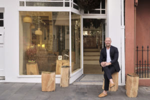 Craig Andrade outside his shop, The Raconteur.