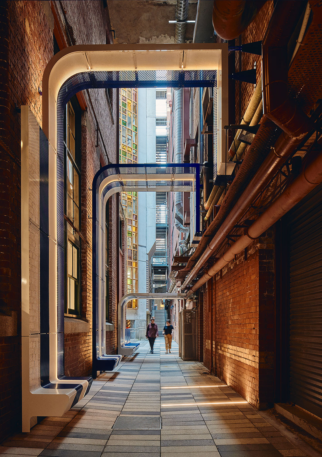 RMIT New City Laneways by Sibling Architecture, photo: Peter Bennetts.