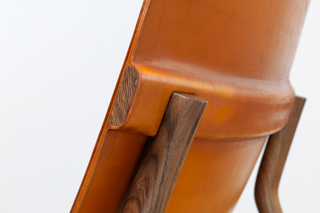 Detail of the Settlers chair.